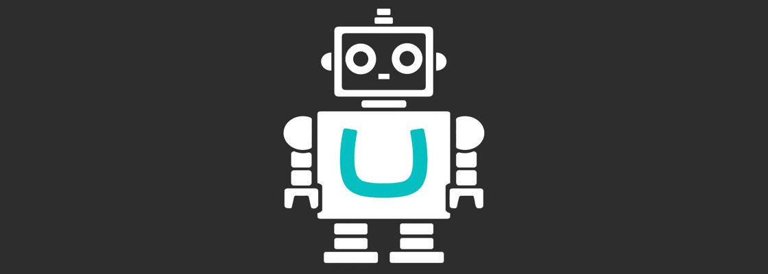 Robot with Umbraco logo