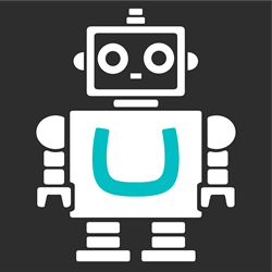 Robot with Umbraco logo