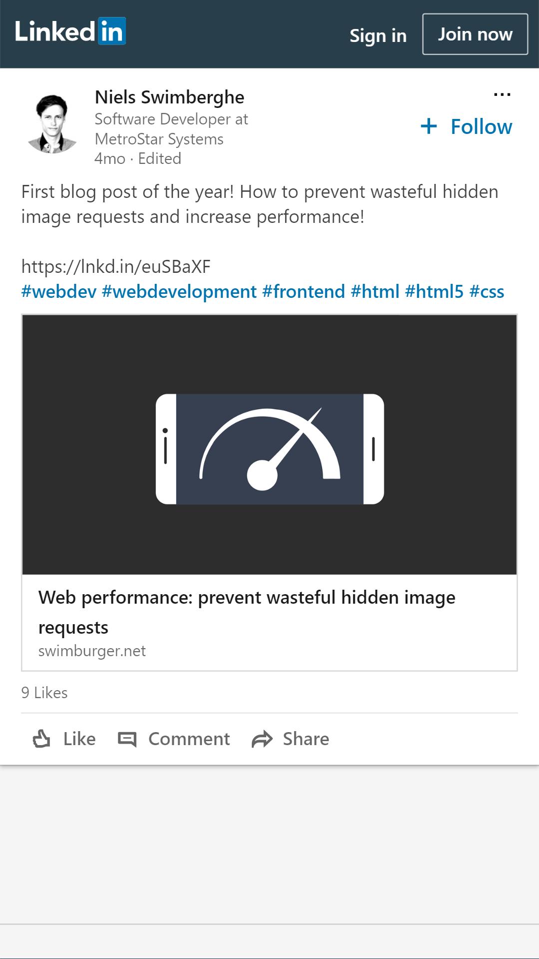 LinkedIn Post Example