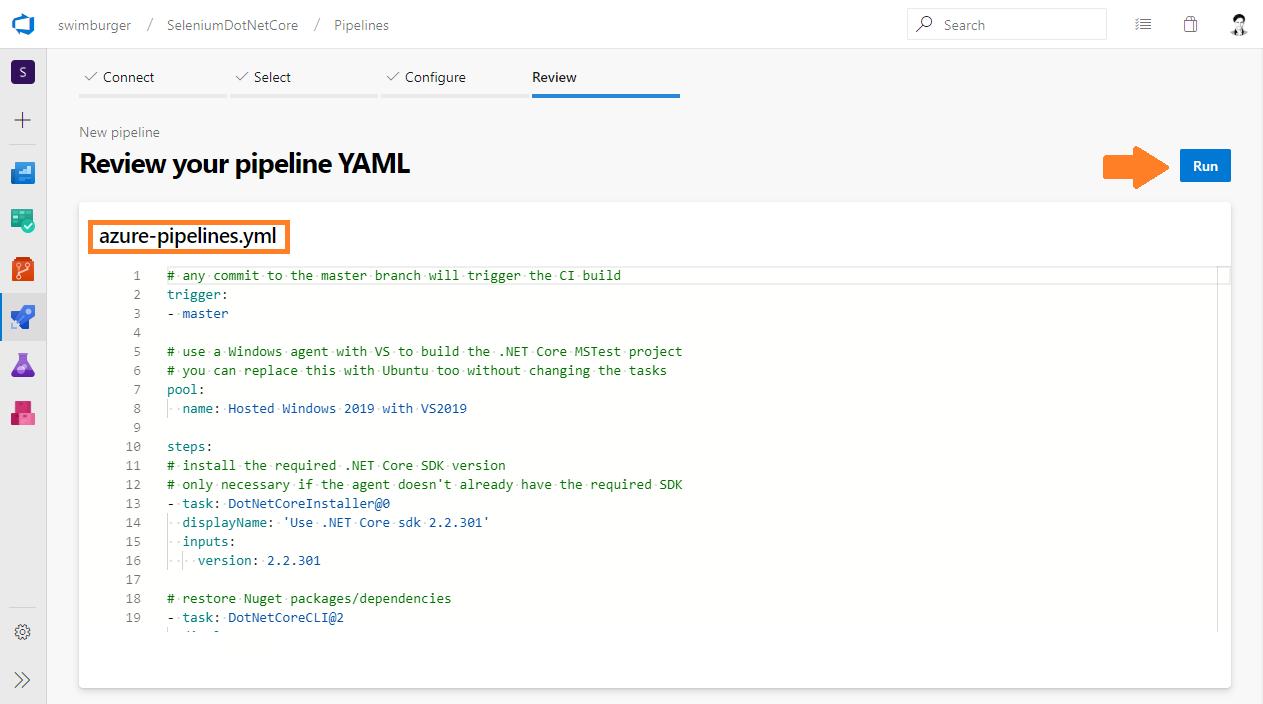 How to run  NET Core Selenium UI tests on Azure DevOps Pipelines 🚀