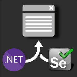 .NET Core + Selenium logo steering a web browser window
