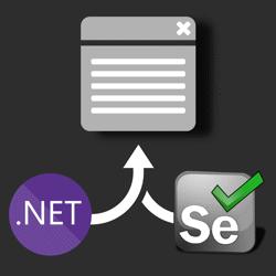 .NET Core + Selenium logo steering a web browser window