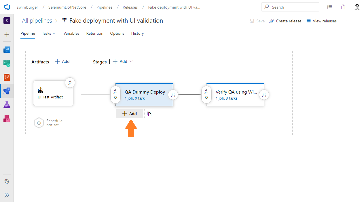 Azure DevOps Release add parallel verification stage