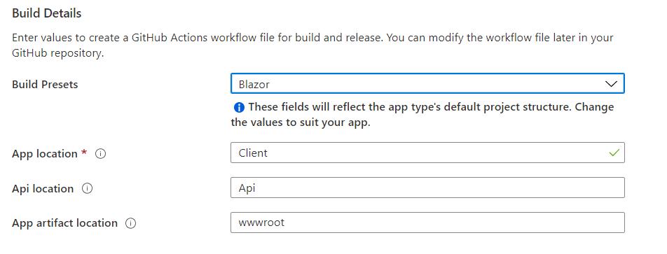 Azure Static Web App Build Details