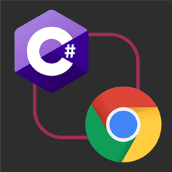 C# and Chrome logo