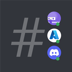 .NET Bot, Azure, and Discord are together in a Discord server