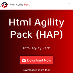 Screenshot of the HTML Agility Pack homepage