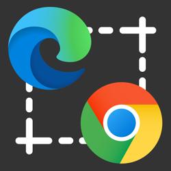 Microsoft Edge and Google Chrome logo