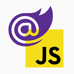 Blazor next to JavaScript logo