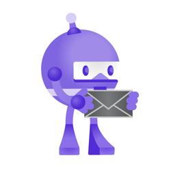 .NET Bot holding a letter
