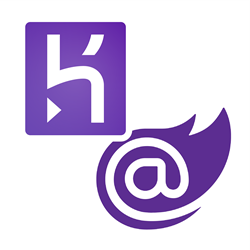 Heroku and Blazor logo