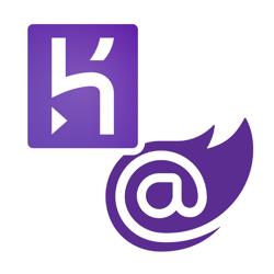 Heroku and Blazor logo