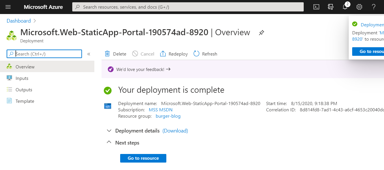 Azure Static Web Apps Deployment