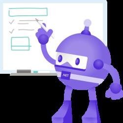.NET bot writing on whitebpard