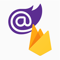 Blazor and Firebase logo