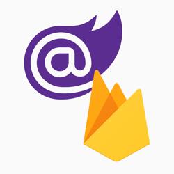 Blazor and Firebase logo