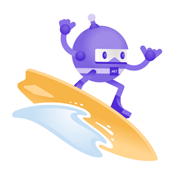 .NET Bot surfing a wave