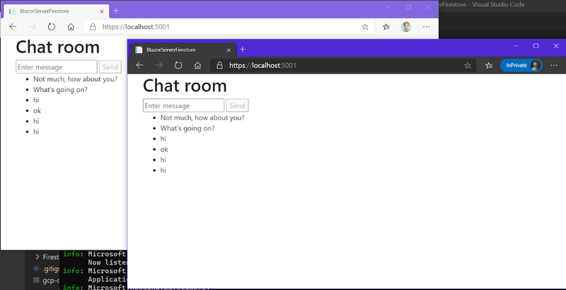 Multiple browser windows showing live chatting