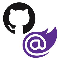 Blazor and GitHub logo