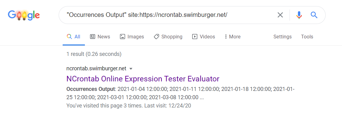 Screenshot of a Google Search query returning Blazor WASM content